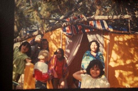 Beach camping 1970s