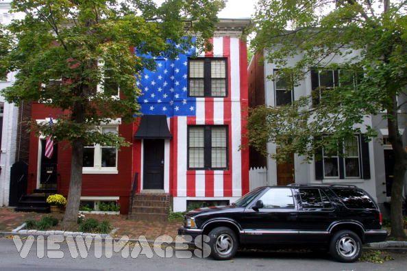 American_flag_house