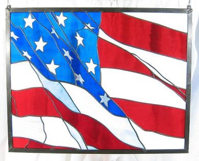 American_Flag_Panel_Stained_Glass