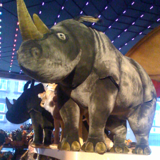 Massive Rhino sighting at FAO Schwartz