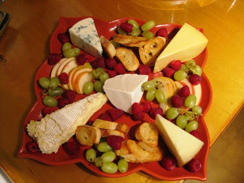 Week 1 culinary cheesev platter