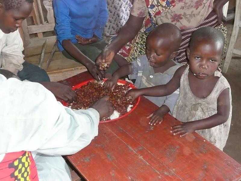 Orphans moms eating