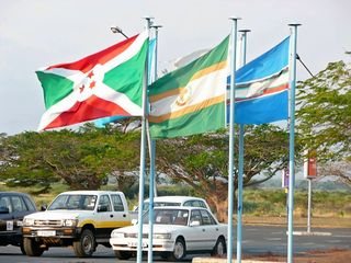 Flags at airport
