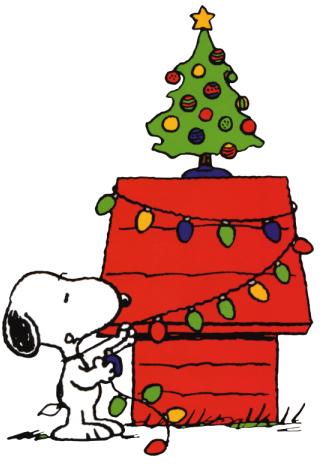 christmassnoopylightstree Dancing Snoopy Clip Art